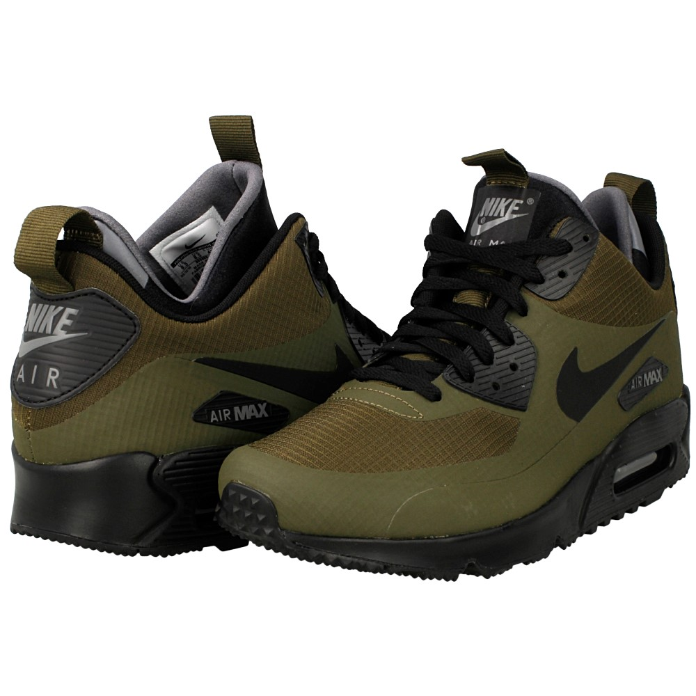 Nike Air Max 90 MID Winter 806808-300 | Zielony ⋆ Distance.pl